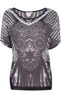 Helmut Lang Printed Tshirt - Lyst