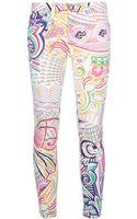 Mary Katrantzou Pound Print Skinny Jeans - Lyst