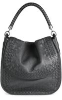 Bottega Veneta Medium Woven Leather Flap Top Shoulder Bag - Lyst