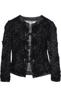 Valentino Leather and Lacemacramé Jacket - Lyst