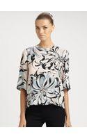 Emilio Pucci Printed Silk Top - Lyst