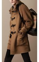 Burberry Double Faced Wool Duffle Coat - Lyst