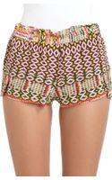 Rebecca Minkoff Mika Silk Ikat Shorts - Lyst