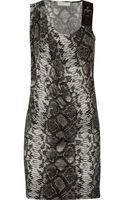 MICHAEL Michael Kors Snake Print Satin Jersey Dress - Lyst