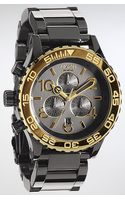 Nixon The 4220 Chrono Watch in Gun N Gold - Lyst