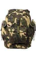 Rothco The Canvas Rucksack in Woodland Camo - Lyst