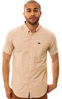 RVCA The Thatll Do Ss Buttondown Shirt in Wheat - Lyst