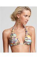 Pilyq Anaconda Xslider Halter Bikini Top - Lyst