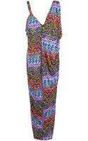 T-bags Tie Waist Maxi Dress - Lyst
