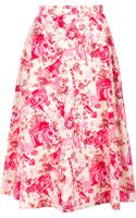 Kenzo Vintage Floral A Line Skirt - Lyst