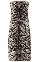 Christopher Kane Jaguar Print Goat Hair and Leather Dress - Lyst