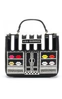 Lulu Guinness Black Ellis Street Shop Small Audrey - Lyst
