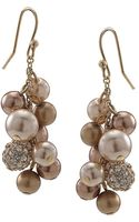 Carolee Faux Pearl Cluster Earrings - Lyst