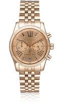 Michael Kors Rose Goldtone Bracelet Watch - Lyst