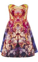 McQ by Alexander McQueen Mineral Print Bustier Dress - Lyst