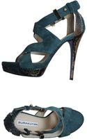 Burak Uyan High-Heel Suede Platform Sandals - Lyst