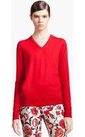 Jil Sander Navy Wool Sweater - Lyst