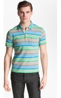 Billy Reid Pensacola Trim Fit Stripe Polo - Lyst