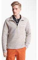 Billy Reid Half Zip Quilted Pullover - Lyst