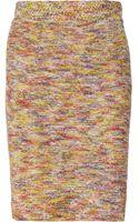 Oscar de la Renta Knitted Silk Skirt - Lyst