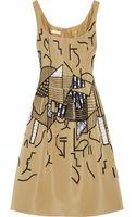 Oscar de la Renta Embellished Silk Faille Dress - Lyst