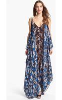 Rachel Roy Silk Maxi Dress - Lyst