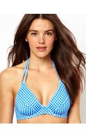 Asos Gingham Fuller Bust Halter Plunge Bikini Top - Lyst