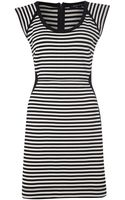 French connection City Stripe Dress - Lyst