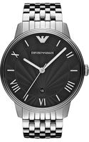 Emporio Armani Dino Stainless Steel Watch Silver - Lyst