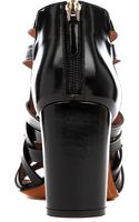 Givenchy May Leather Cage Sandals - Lyst
