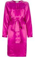 Lanvin Belted Dress - Lyst