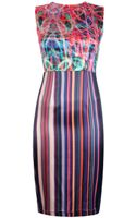 Marco Bologna Abstract Print Sleeveless Dress - Lyst