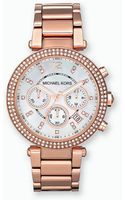 Michael Kors Ladies Rose Gold Crystal Chronograph Watch - Lyst