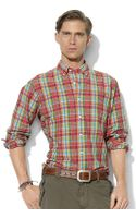 Polo Ralph Lauren Classicfit Longsleeved Checked Poplin Shirt - Lyst