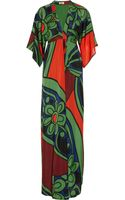 Issa Printed Silkchiffon Maxi Dress - Lyst