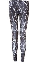 McQ by Alexander McQueen Leggings in Black-white - Lyst
