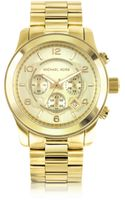 Michael Kors Mens Runway Gold-tone Stainless Steel Bracelet Watch - Lyst