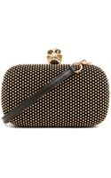 Alexander McQueen Classic Skull Box Clutch with Strap in Metallics  - Lyst