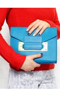 Sophie Hulme Turquoise Mini Soft Envelope Clutch Bag - Lyst