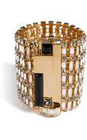 Emilio Pucci Crystal Bracelet in Goldsilver - Lyst