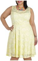 ModCloth Lemon Drop By Dress  - Lyst