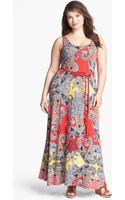 Lucky Brand Marrakesh Paisley Print Maxi Dress Plus - Lyst