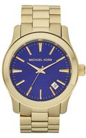 Michael Kors Gold Stainless Steel Mens Watch - Lyst