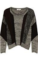 Helmut Lang Colorblock Linen blend Sweater - Lyst