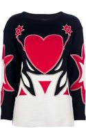 Moschino Vintage Appliqué Sweater - Lyst