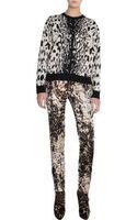 Lanvin Leopard Crewneck Sweater - Lyst