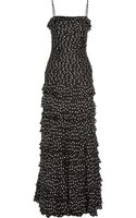 Moschino Cheap & Chic Polkadot Silk Chiffon Gown - Lyst