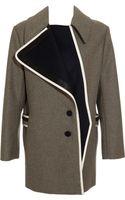 Bouchra Jarrar Shetland Wool Coat - Lyst