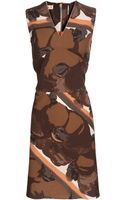 Marni Exclusive Floral Printed Cotton Dress - Lyst