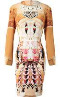 Mary Katrantzou Flake Printed Silk Dress - Lyst